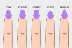 acrylic nail shapes