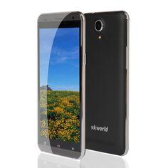 "VKworld vk700 Pro - Smartphone libre 3G Android 4.4 (Pantalla 5.5"", 8GB ROM, Quad-Core 1.3GHz, Cámara 13 Mp, 7.6mm ultrafino, Batería de 3200mAh), Negro"