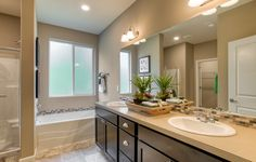 Awesome master bath in this Sapphire Townhome!