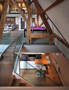 Wooden-Architecture-Charming-St.-Pancras-Penthouse-Billiard-Table.jpg 650×850 pixels