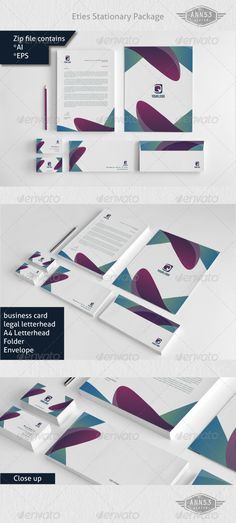 Eties Stationery Package - GraphicRiver Item for Sale