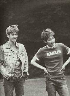 BAEKHYUN & XIUMIN [ Die Jungs Photobook ] #exo Hapkido, Kpop Exo, Exo K, K Pop, Baekhyun, Park Chanyeol, Exo Facts, Exo Album, Exo Couple