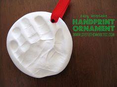 baby handprint christmas ornament