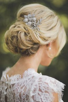 bridal updos with low bun and veil - Google Search