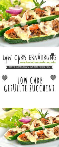 Low Carb Rezept für leckere gefüllte Zucchini mit wenig Kohlenhydraten. Low Carb und einfach und schnell in der Zubereitung. Perfekt zum Abnehmen.