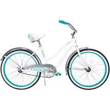 "Walmart: 24"" Huffy Cranbrook Girls' Bike Cruiser, Pearl White"