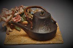 Antique - Japanese Tetsubin with Kanji Calligraphy - Circa 1920s - Japanese Antiques - Japanese Tea Ceremony - Japanese Decor