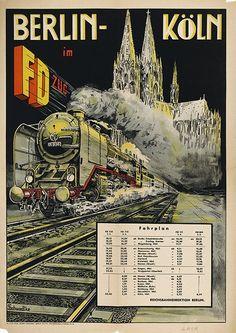 Berlin-Koeln im FD-Zug Werbung 1949