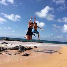 Wes and Jess jumping around the world Travel Around The World, Around The Worlds, Kauai, Selfie, Selfies