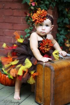 887852634ed Items similar to Autumn Elegance Baby Sunflower Tutu Dress Brown