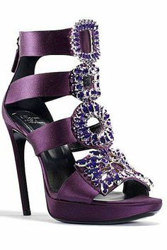 Stunning purple shoes