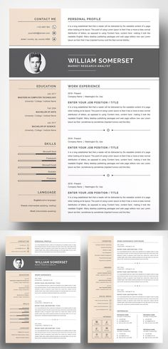 An another roundup of Simple Clean Resume Templates, ready to use print resume designs can assist you achieve your dreams. These best resume templates are hand Simple Resume Template, Resume Design Template, Cv Template, Creative Resume Templates, Design Resume, Templates Free, Cv Online, Infographic Resume, Job Employment