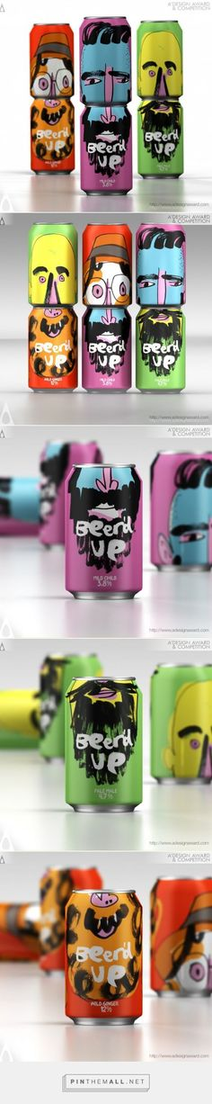 Beer'd Up Beer packaging by Springetts Brand Design Consultants (Mix People Faces) Cool Packaging, Beer Packaging, Beverage Packaging, Brand Packaging, Design Packaging, Glass Packaging, Vintage Logo, Vintage Design, Creative Logo