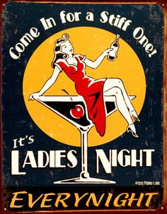 Ladies Night Tin Sign at AllPosters.com