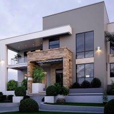 49 most popular modern dream house exterior design ideas 7 Modern Exterior House Designs, Modern House Facades, Modern Villa Design, Dream House Exterior, Home Exterior Design, Exterior Houses, Modern Houses, Home Design, Contemporary House Plans