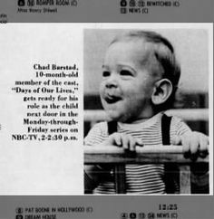 Chad Barstad (Brad/David Banning, Days of Our Lives), July 1968