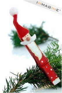Papai Noel em pregador de roupa                                                                                                                                                                                 Mais