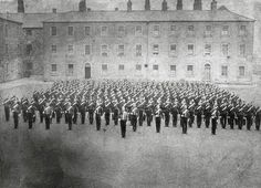 Parade at the Royal Barracks, Dublin, 1875 Old Pictures, Old Photos, Vintage Photos, Irish Independence, Gone Days, Historical Photos, Troops, Dublin, Paris Skyline
