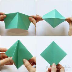 Cómo hacer grullas de origami y armar un móvil - Guía de MANUALIDADES Coasters, Diy, Kawaii, Cards, Daughter, How To Make, Infant Crafts, Paper Crafts, Paper Crane Mobile