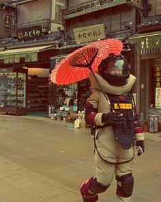 Far East space suit.