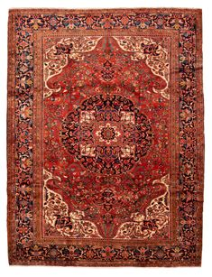 Persian Heriz x Hand-knotted Wool Red Rug Red Rugs, Persian, Bohemian Rug, Wool, Home Decor, Red Carpets, Decoration Home, Room Decor, Persian People