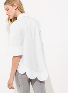Women's Scalloped Blouse | Page Blouse