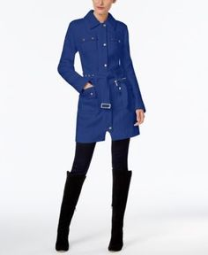 Inc International Concepts Belted Walker Coat, Only at Macy's - Blue S