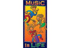 """MUSIC IS LIFE POSTER - 17"""" x 36"""""""