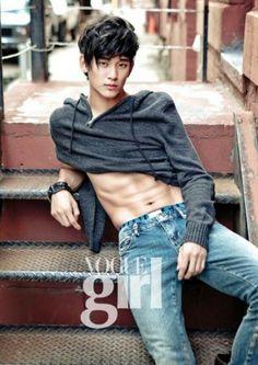just casually posing x abs :: Kim Soo Hyun for Vogue Girl
