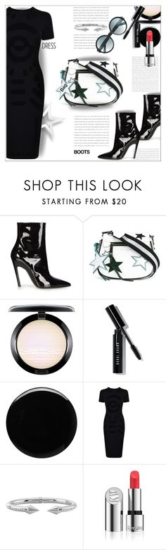 """Little Black Dress"" by dragananovcic ❤ liked on Polyvore featuring Balenciaga, Marc Jacobs, MAC Cosmetics, Bobbi Brown Cosmetics, Deborah Lippmann, McQ by Alexander McQueen, Vita Fede, Kjaer Weis and Tom Ford"