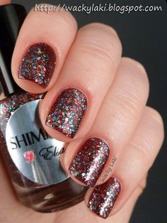Shimmer Elsa (over Nicole by OPI Marooned in Paradise)