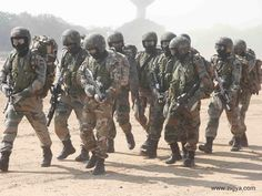 The Garud Commando Force is the Special Forces unit of the Indian Air Force whose name is inspired from Garuda, a sacred bird of Hindu Mythology. Their motto is॥प्रहार से सुरक्षा॥ (Offence is the Best Form of Defense).