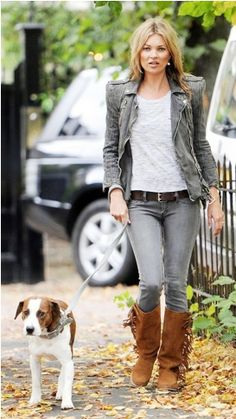 grey with grey with fringe boots by kate moss