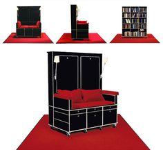 mobile chair bookcase idea