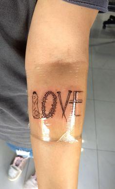 A maior prova de amor que um homem fez por mim! ❤️ #jesus #love #tatuagem