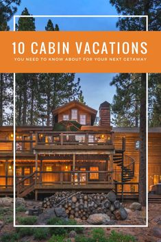 These cozy cabin vacation spots may not have crossed your mind until now, but they're sure to leave an impression. Top Place, The Good Place, Mountain Vacations, Cabin Vacations, Vacation Spots, Vacation Rentals, Ski Holidays, Top Destinations, Cozy Cabin