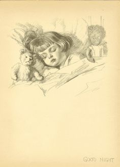 Image result for vintage child asleep in dark