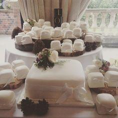 Wedding Cake with Mini Wedding Cakes! Mini Wedding Cakes, Cake Blog, Instagram Posts, Desserts, Inspiration, Tailgate Desserts, Biblical Inspiration, Deserts, Dessert