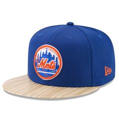 brand new d9411 680d5 New York Mets New Era 1987 Topps Collaboration 9FIFTY Adjustable Hat -  Royal Tan