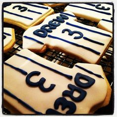 Baseball Jersey Cookies - Baseball Cookie Favors - Jersey Cookies - New York Yankees via Etsy