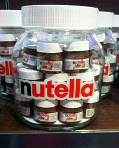 Mini pot de nutella 30g a accrocher dans votre sapin junkfood pinterest nutella minis - Petit pot de nutella ...