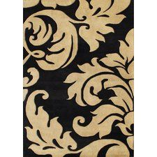 Hand-Tufted Brown/Black Area Rug