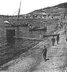 Foça, İzmir / 1910′lar   Eski Türkiye Fotoğrafları Arşivi Harbin, Paris Skyline, Istanbul, Nostalgia, Asia, Louvre, Old Things, History, City