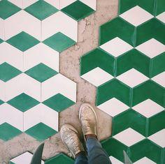 "Great shot from our friends at Popham Design in Marrakech; ""Hex Thirds"" in the color Milk and Lawn. @pophamdesign #marokk #marokkdk #marokktiles #marokk.dk #cementfliser #sementfliser #cementkakel #cementklinker #cementtiles #cementtile #zementfliesen #mosaichidraulic #carreauxdeciment #coolconcrete #concretetiles #concretetile #midcentury #midcenturydesign #midcenturymodern #danishmodern #danishdesign #diamondtile #handmadetiles #betonfliser #betonkakel"