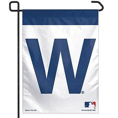 """Celebrate another Cubs victory with this Chicago Cubs """"W"""" x Garden Flag from Wincraft! This garden flag is made out of durable polyester and is designed to hang vertically from a garden flag pole or inside as wall decor. Chicago Cubs W Flag, Chicago Cubs Gifts, Cubs Merchandise, Cubs Win, Go Cubs Go, Garden Flags, Cubbies, Just In Case, Root Root"""