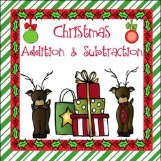 Some fun Addition and Subtraction with a Christmas theme.