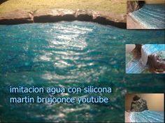 imitacion efecto de agua con silicona fácil y económico - YouTube