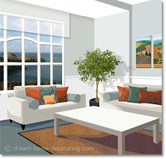 living room color scheme in grey & apricot Interior Design Color Schemes, Colorful Interior Design, Interior Paint Colors, Room Interior, Colorful Interiors, Interior Painting, Wall Paint Colors, Bedroom Paint Colors, Room Colors