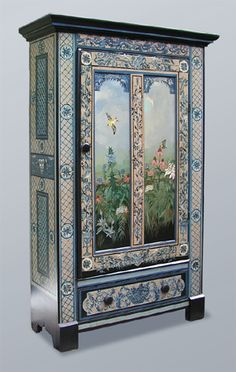 Floral Wardrobe - Hand painted.  I would  take anything from this site.