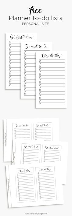 Planner inserts - to
